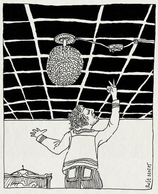 tekening 468, discobol discoball switch ceiling plafond