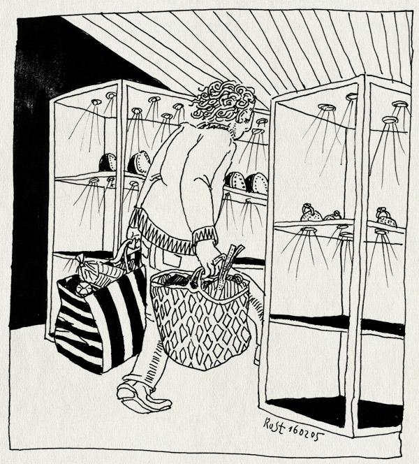 tekening 475, shop winkel winkelen voorzichtig jewelery juwelier bag tas boodschappentas spotje