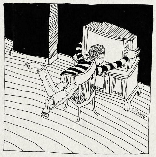 tekening 480, televisie tv televistion chair maasstraat