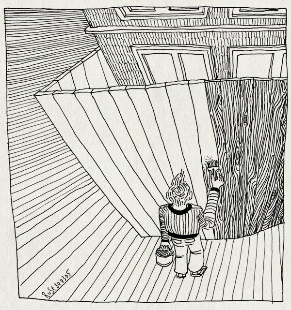 tekening 482, fence paint hek schilderen marcel bob grap
