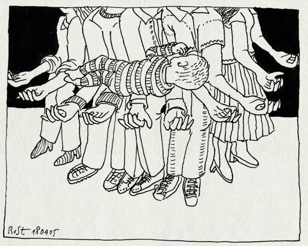 tekening 486, bram lucas steeman geboren born birth baby