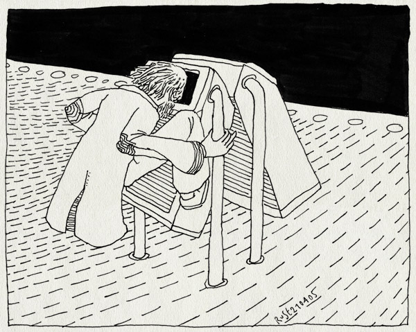tekening 488, zwerver vuilisbak