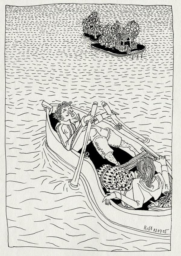 tekening 499, riethorst froesland boot boat roeiboot island eiland 10e martine weekend philips earnewald