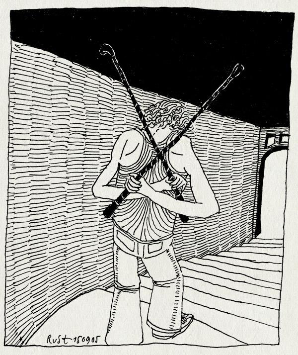 tekening 516, stairs whip zweep trap