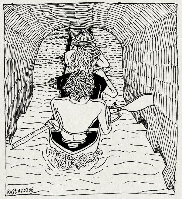 tekening 521, roeien joost ruben rust frits berend prinsengracht row d4 riemen paddles amsterdam gracht canal