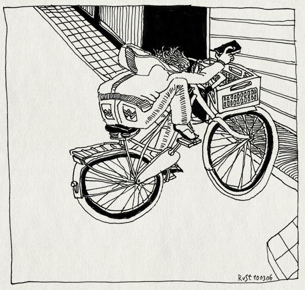 tekening 528, fiets bike bicycle nh49 nieuwe herengracht amsterdam garage remote control afstandsbediening gracht canal