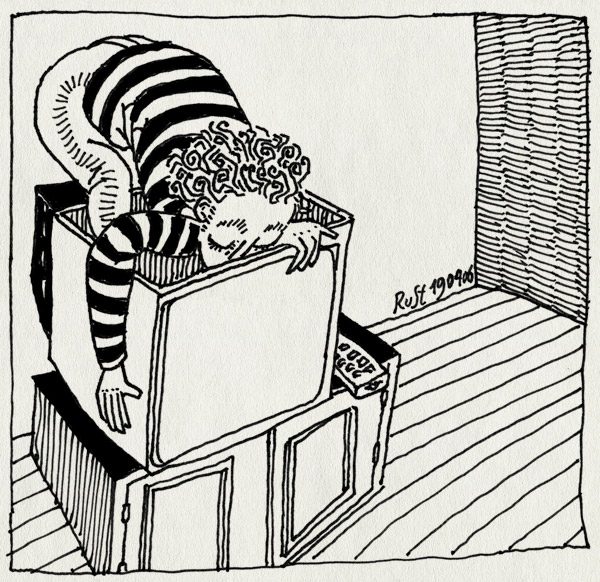 tekening 543, televisie AT5 maasttraat Parool stripstrijd