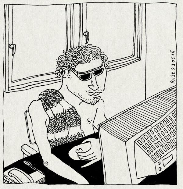 tekening 546, florida zonnebril nh49 nieuwe heeren herengracht badlaken handdoek beeldscherm monitor towel sunglasses