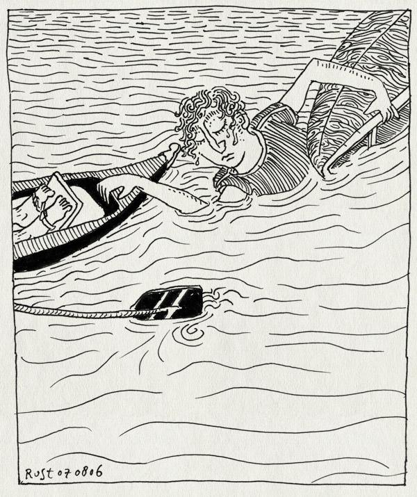 tekening 558, roeicentrum berlagebrug c1 skif amstel amsterdam omgeslagen stefan ruben riem water