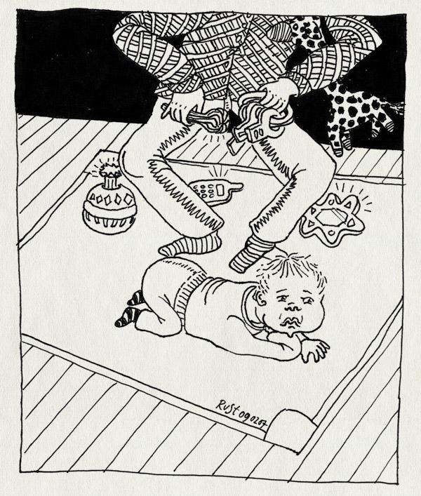 tekening 561, midas baby voorkeurshouding rechts play spelen aandacht attention