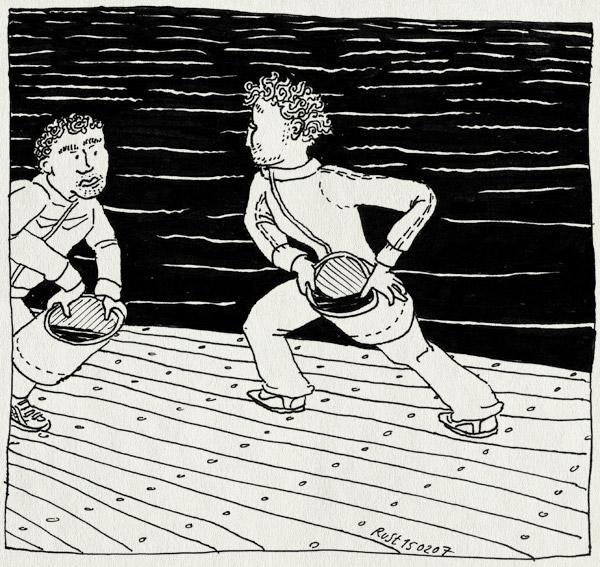tekening 565, maarten rust berlage roeicentrum berlagebrug steiger kade water amstel amsterdam bucket emmer watergevecht roeien roei c4