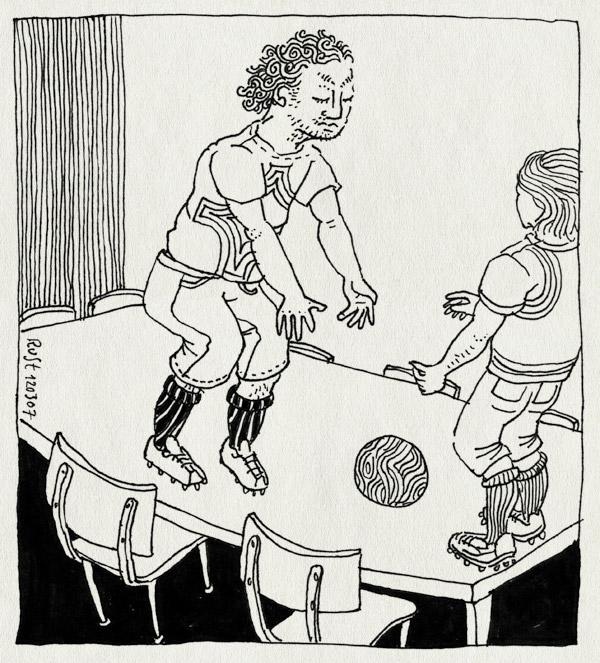 tekening 577, tefelvoetbal nh49 nieuwe heeren table football wooden ball houten bal rolf lunchtafel short