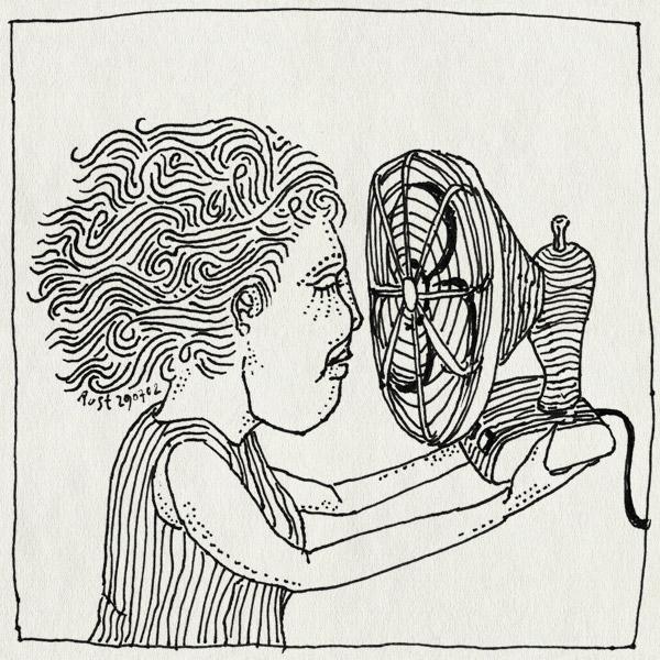 tekening 59, koel, ventilator, verkoeling, waaien, warm, wind