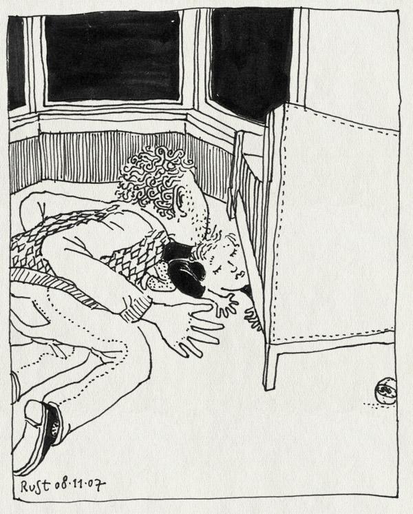 tekening 593, bank midas ruben RuSt couch look lost verloren kijken zoeken search