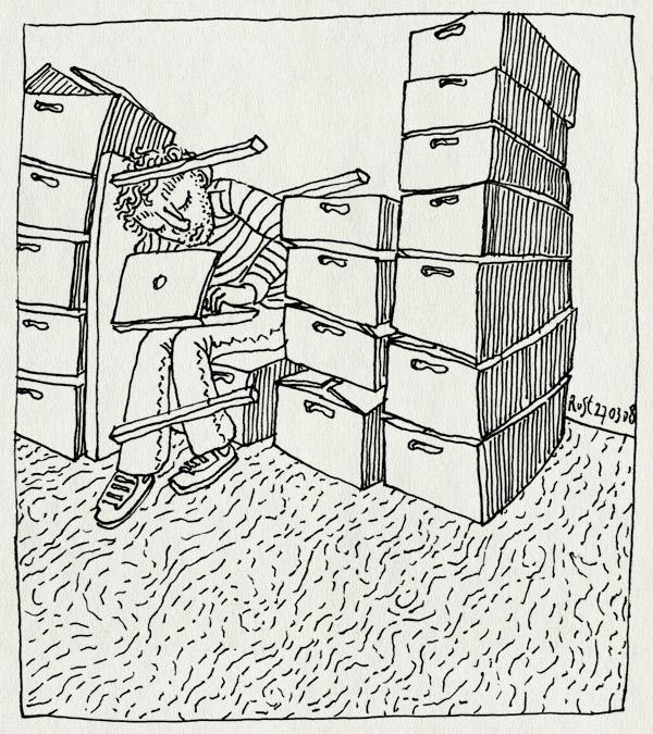 tekening 606, aardewerk, boxes, dozen, move, nh49, nieuwe heeren, verhuizen