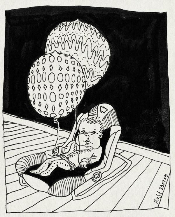tekening 617, alwine, balloons, balonnen, lucht, wippertje