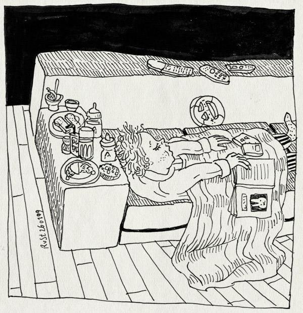 tekening 620, bank, drinken, eten, maasstraat, midas, vies, ziek