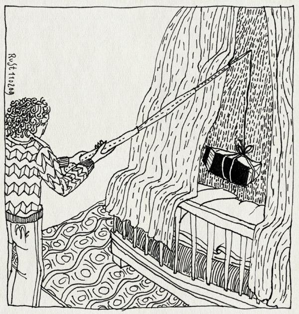 tekening 636, alwine, bed, hemeltje, hengel, melk, milk