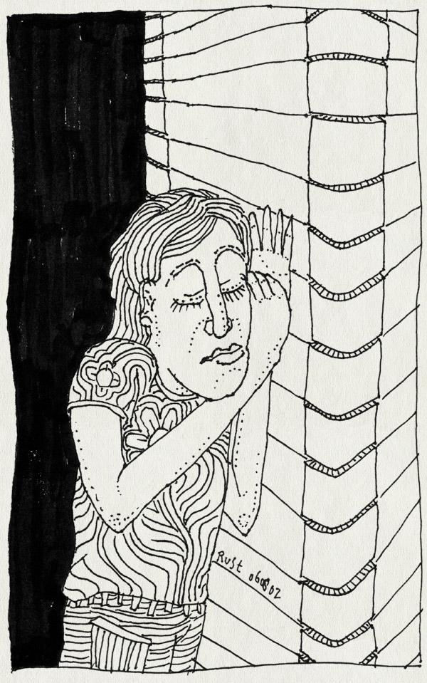 tekening 67, afluisteren, hoekje, luisteren