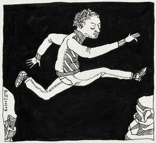 tekening 673, cliff, jump, ravijn, spring, springen, tussentijd
