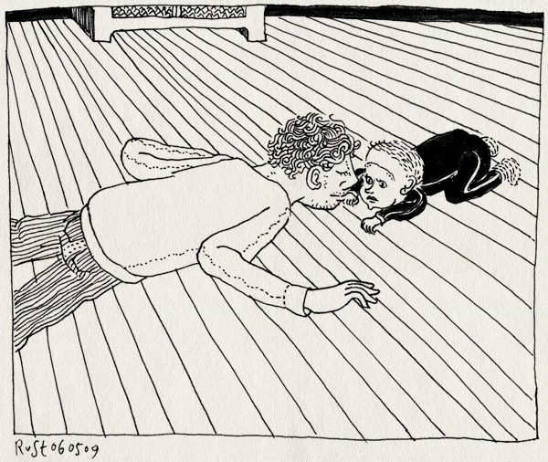 tekening 720, alwine, floor, maasstraat, neusje neusje, vloer