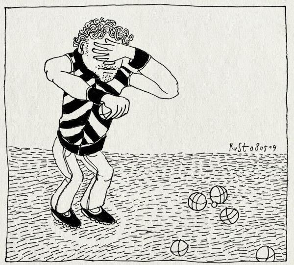 tekening 722, ballen, balls, camping, gooien, hand, jeu de boules, ogen, petanque