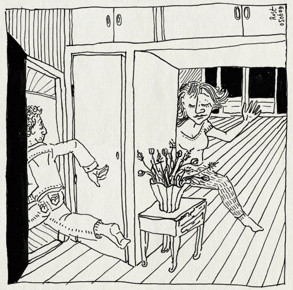 tekening 750, achtervolging, chase, fun, lol, maasstraat, martine, rennen, ruben, thuis