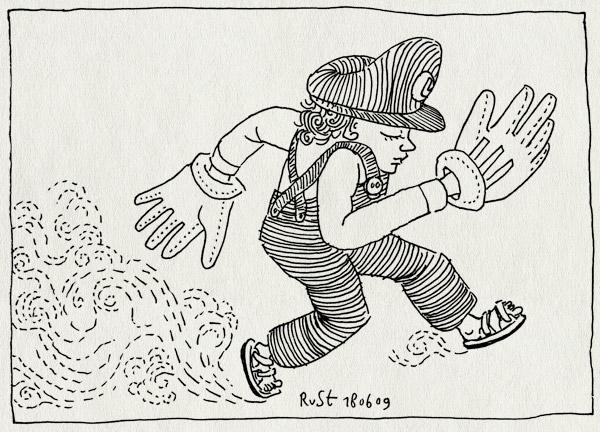 tekening 763, byebye, luigi, luigihanden, mario, midas, rennen, run