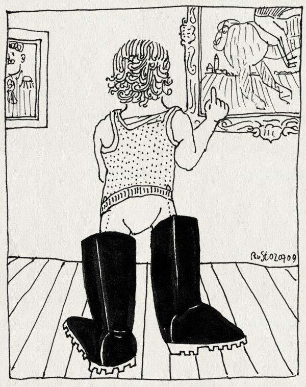 tekening 777, boots, exhibition, laarzen, midas. tentoonstelling