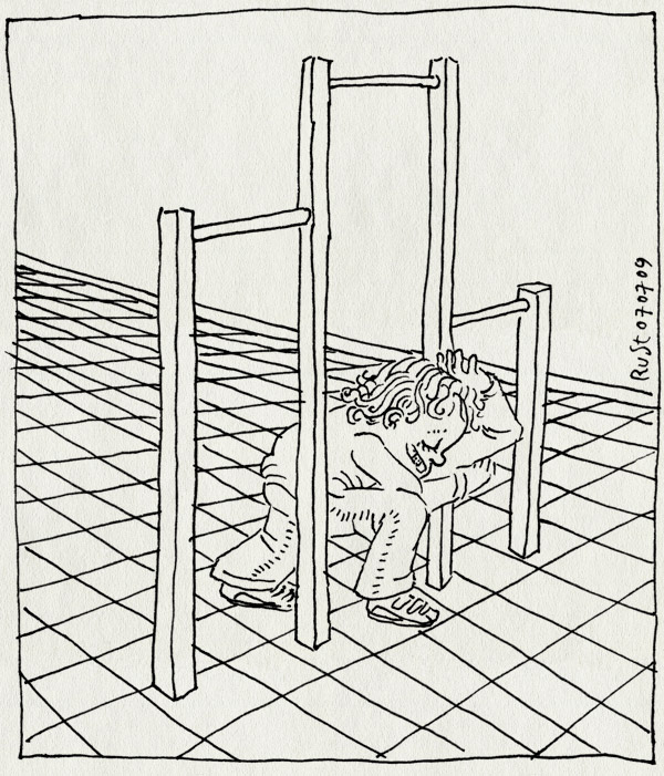 tekening 782, klimrek, kopjeduikelen, koppeltjeduiken, midas, rekstok, speeltuin