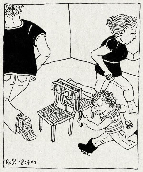 tekening 793, 10e, almere, camping, chairs, char dance, kinderfeest, martine, midas, stoelendans