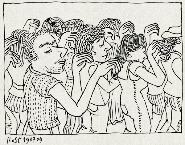 tekening 794, #mj020, 10e, amsterdam, dance, dans, dansje, flashmob, joost, martine, mashflob, michael jackson, roosmarijn, thriller, tribute