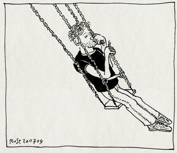 tekening 795, bo, broken, dave, duitsland, dusseldorf, gebroken, kermis, ylka, zweefmolen