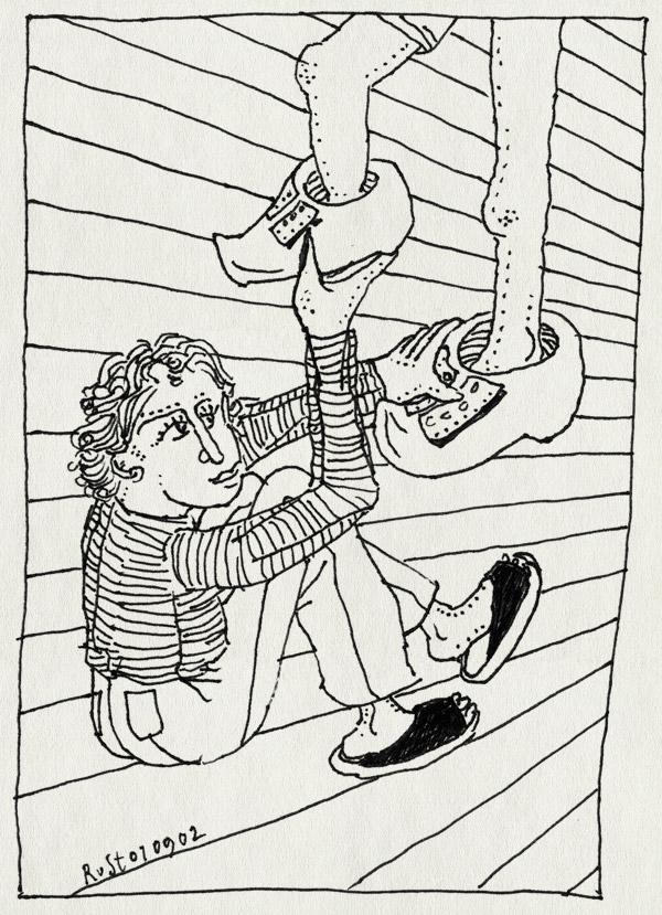 tekening 83, birckenstock, klomp, klompen, lelijk, passen