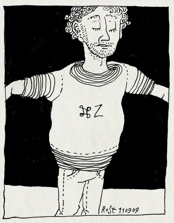 tekening 848, appeltje Z, bright, brightnight, nooitmeerwassen, tshirts, undo