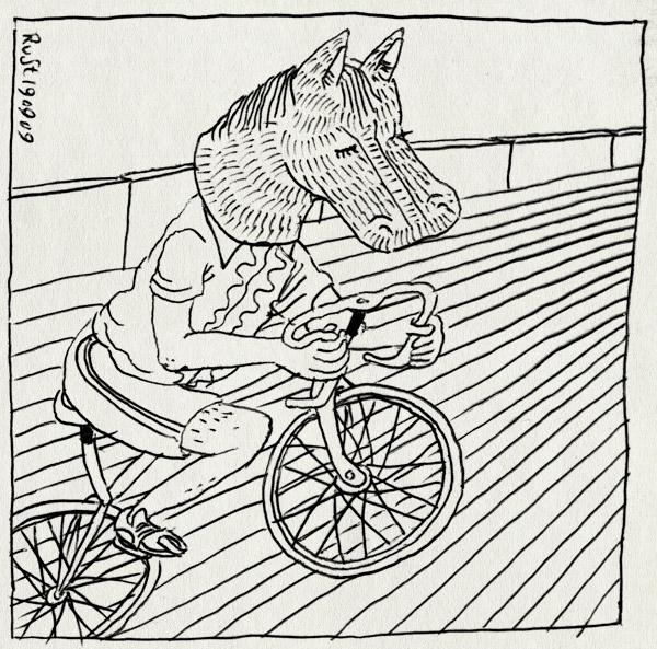 tekening 856, alkmaar, baanwielrennen, cycling, hengst, hengstenbal, horse head, nathan, paard, paardenkop, stagparty, vrijgezellenavond, vrijgezellenfeest
