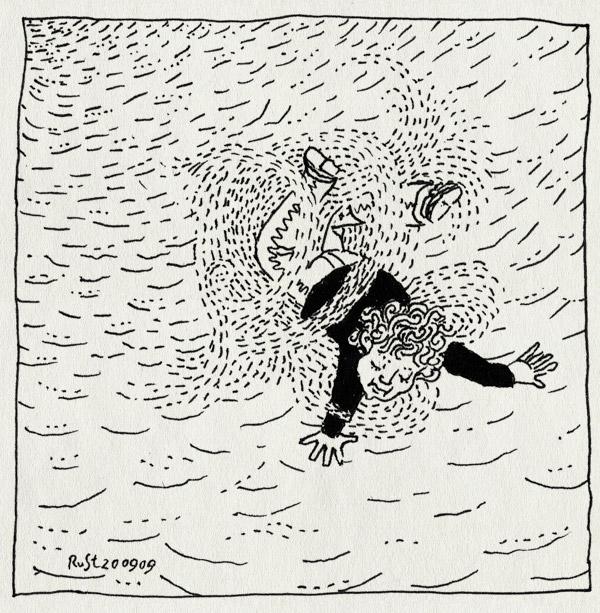 tekening 857, falling, klimduin, sand, schoorl, vallen, zand, zondag
