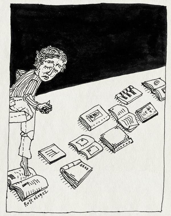 tekening 87, boek, boeken, frits becht, herhaling, hinkelen, kunstenaarsboeken, tentoonstelling, teruggrijpen