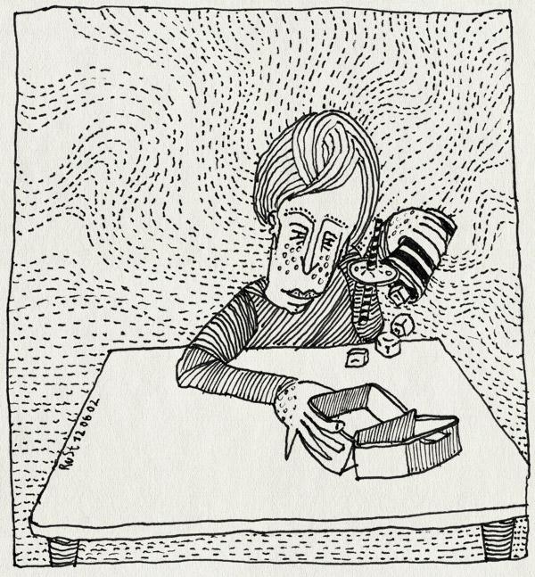 tekening 9, bakje, burger, drinken, ijsklontjes, mcdonalds
