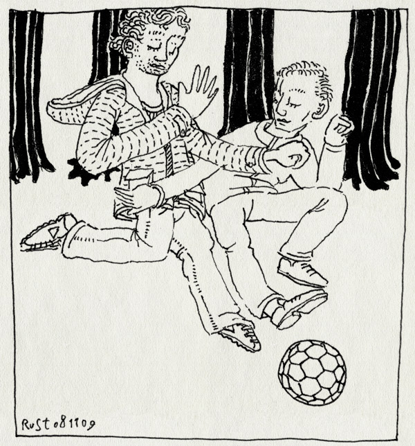tekening 906, bremlaan, broers, brothers, foot, football, michel, socces, speelttuintje, voetbal, voetballen