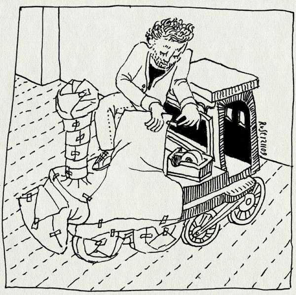 tekening 910, arend, cadeau, inpakken, jarig, locomotief, midas, present, spoorwegmuseum, steam engine, stoomlocomotief, thomas, train, trein, voorbereiding, wrap
