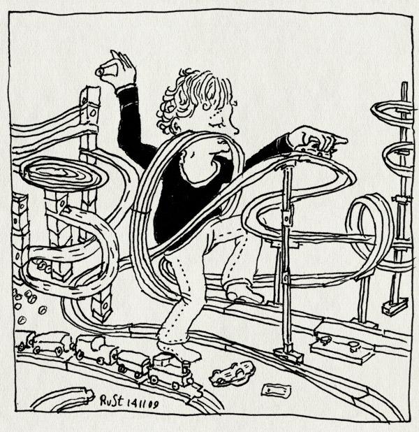 tekening 912, auto, cars, darda, houten trein, knikkerbaan, midas, play, racetrack, spelen, trein, verjaardag, verwend