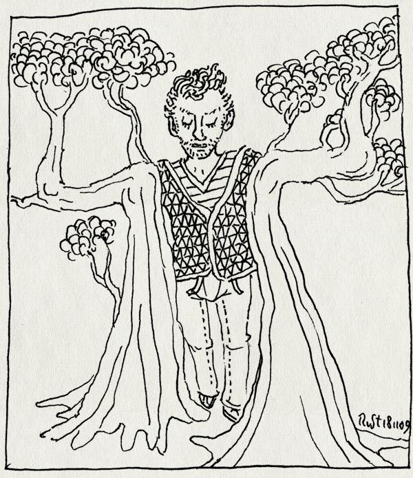 tekening 916, arm, boom, boomarmen, knoesten, renz, tree, werk