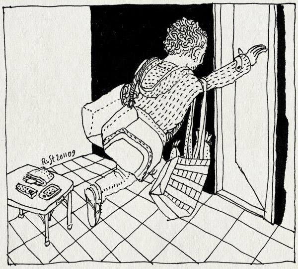 tekening 918, mobieltje, portemonnaie, tassen, telefoon, vakantie, vergeten, weg
