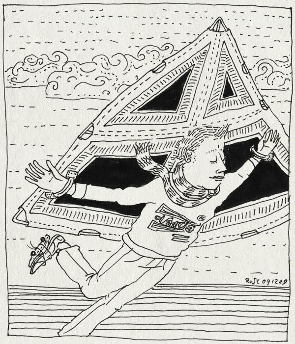 tekening 935, bob, darda, delta, flyer, marcel, vlieger