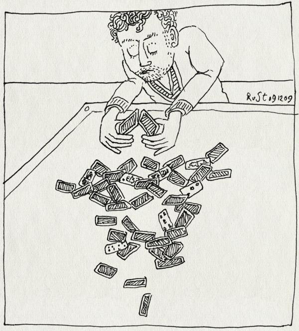 tekening 937, burorust, cards, fallen, house of cards, ineengevallen, kaarten, kaartenhuis, omgevallen, opnieuw, over, speelkaarten, toren, tower