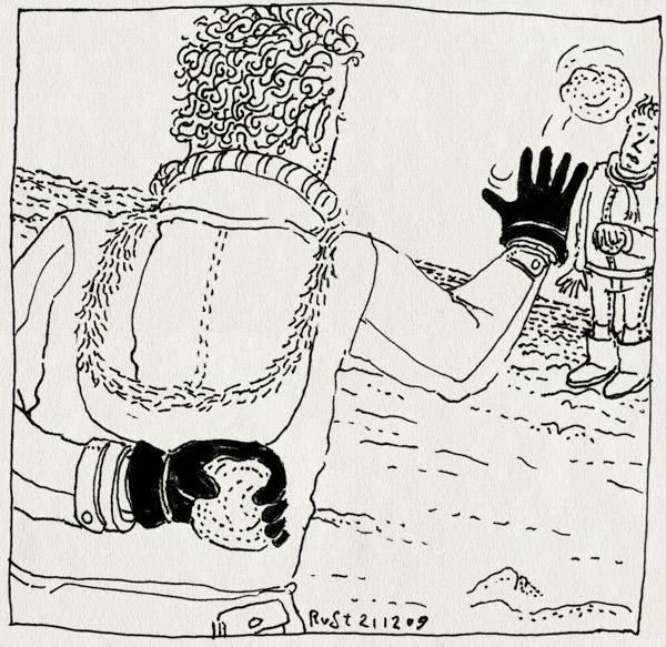 tekening 949, ball, bekogelen, glove, handschoen, sneeuw, sneeuwbal, sneeuwballen, sneeuwballengevecht, snow, truc, winter