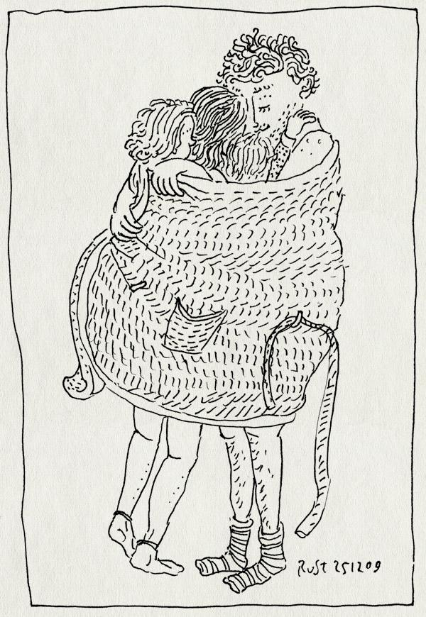 tekening 953, alwine, badjas, fijn, grouphig, kerstmis, knuffel, liefde, martine, midas