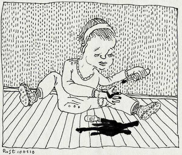 tekening 969, alwine, armband, bracelet, echt, girl, haarband, kliederen, meisje, nagellak, nail polish, tutten