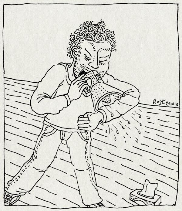 tekening 983, angry, boos, cough, hoesten, megafoon, megaphone